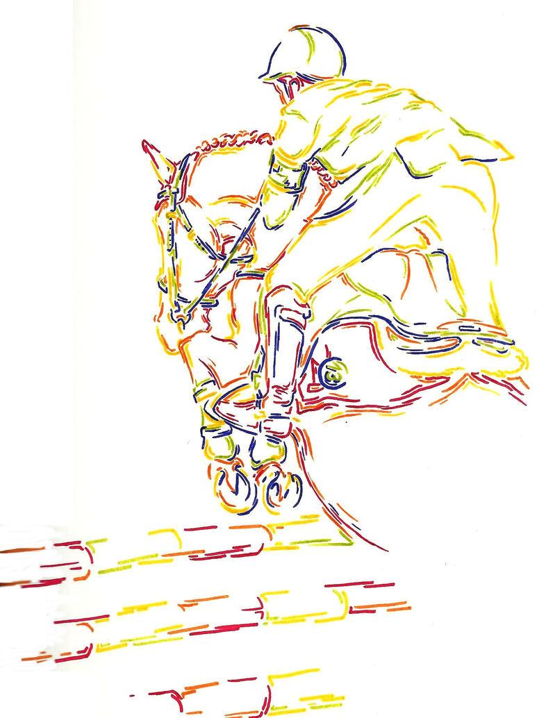 Line art colour - Kevin Staut et Banda de Hus by Ptitelouve