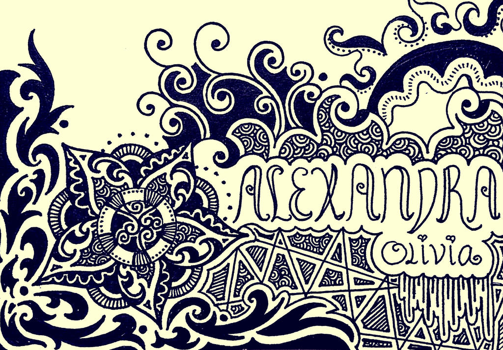Names Of Line Drawing Artists : Abstract name card design by milkysweets on deviantart