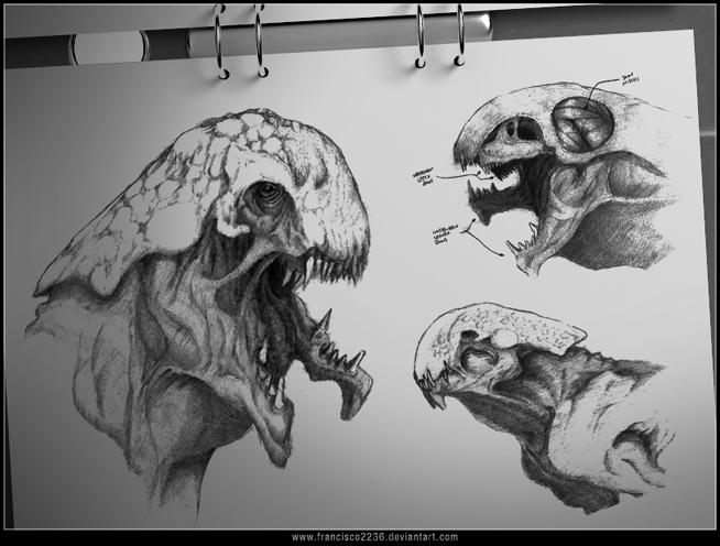 Creature Sketches by francisco2236