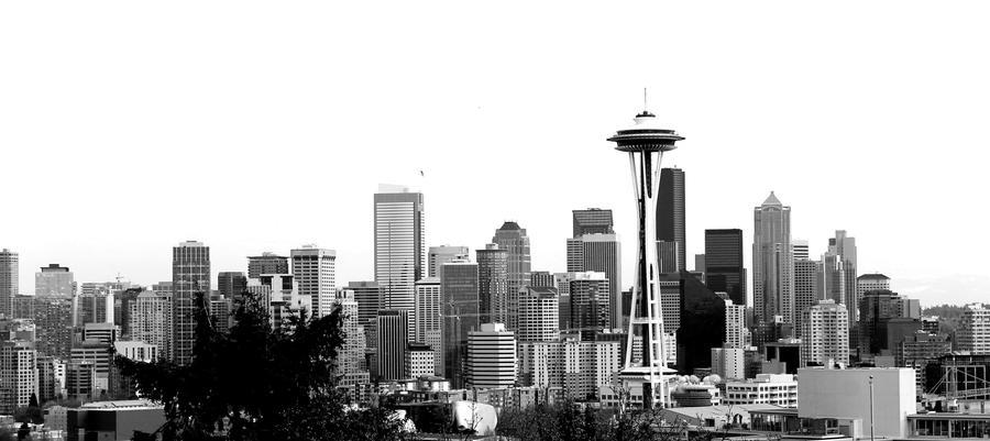 Seattle Skyline by DreamingOfAlbion
