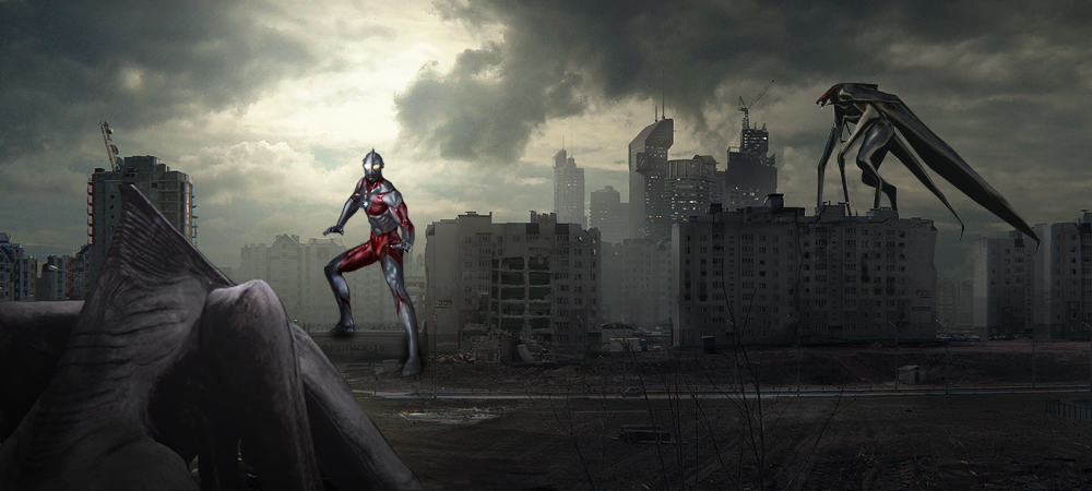 Ultraman-vs-MUTO by UltimateDitto