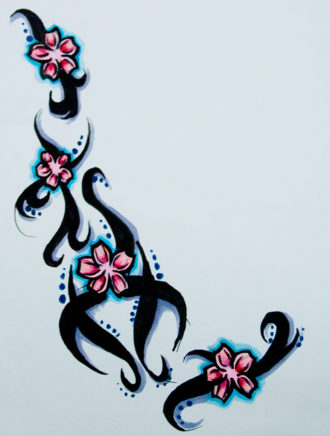 Cherry Blossom Tattoo Drawing