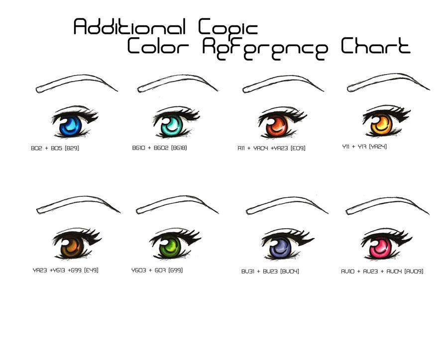 Copic Color Eye Chart by Satoshi-Hotaru