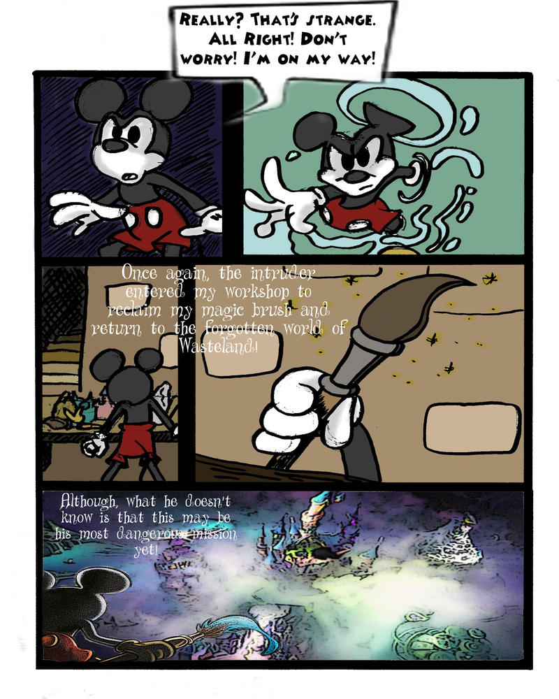 Epic Mickey 3 Prologue pg 2 by Animator7