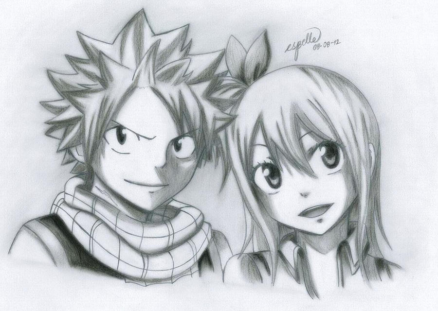 Lucy Heartfilia Lineart : Fairy tail version of natsu n lucy by esbelle on deviantart