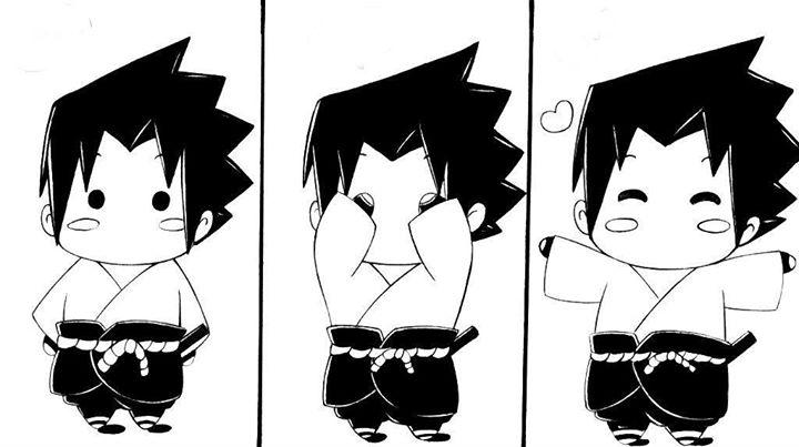 Sasuke's Pi-ka-boo! by esbelle