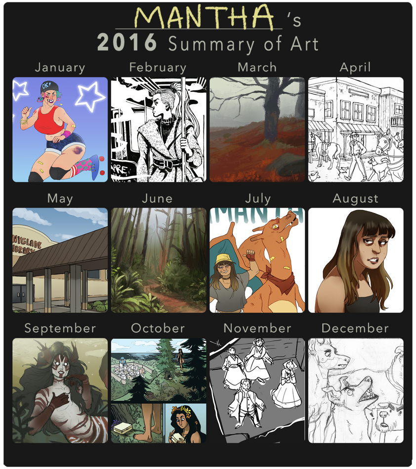 Mantha 2016 Summary of Art by Scorchyz