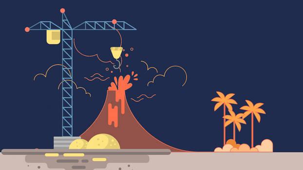 Volcano construction