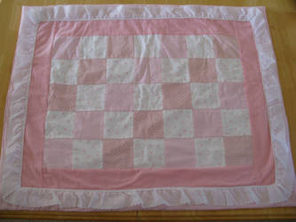 'Too Much Pink' Baby Quilt by jijikit