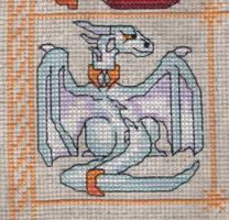Dragon Birthstone SAL - April/Diamond by jijikit