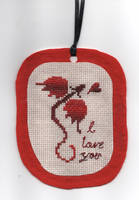 Dragon Valentine Ornament by jijikit