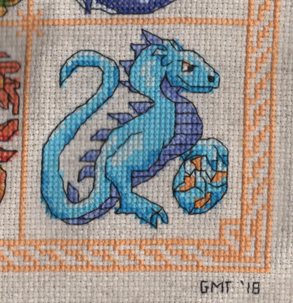 Dragon Birthstone SAL - December/Turqoise