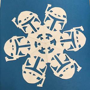 Star Wars Snowflake - Boba Fett