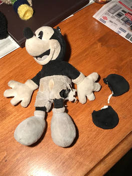 Mending Mickey - before