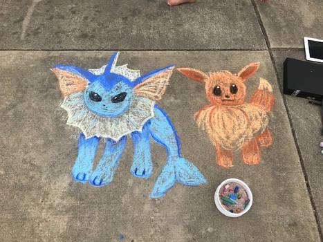 Pokemon - Eevee and Vaporeon