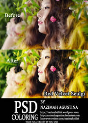 [PSD Coloring] Red Velvet for Happiness by nazimahagustina