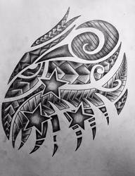 The drawing of my chest tattoo