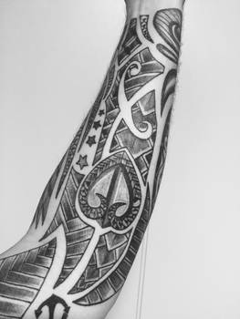 Forearm tattoo other side