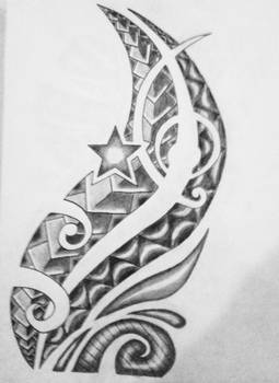 The drawing of forearm tattoo other side