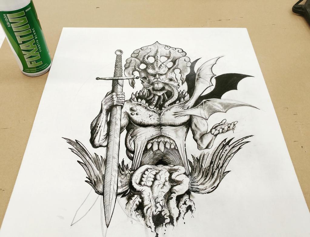Sketch of an angel by NikoAnttila