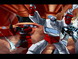 Transformers Movie scene by angryangryasian