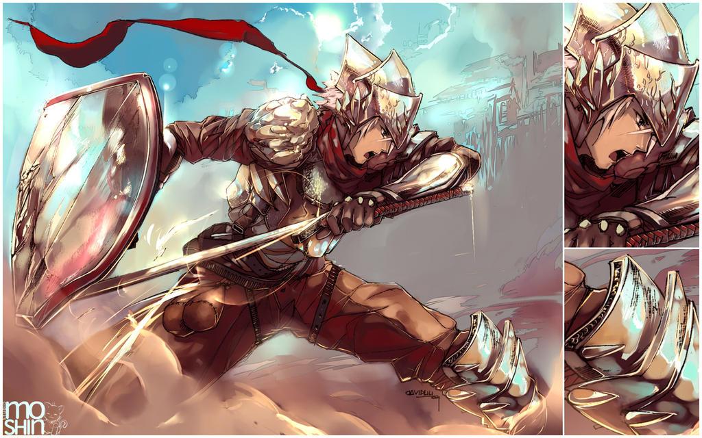 Knights in Battle Wallpaper Commission Battle Knight by