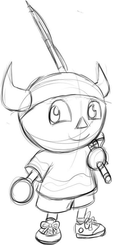 Animal Crossing Gamecube Male Villager Sketch By Ambercyprian On