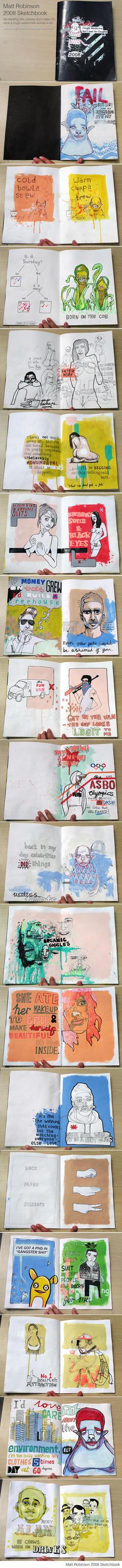2008 Sketchbook by mattrobinson