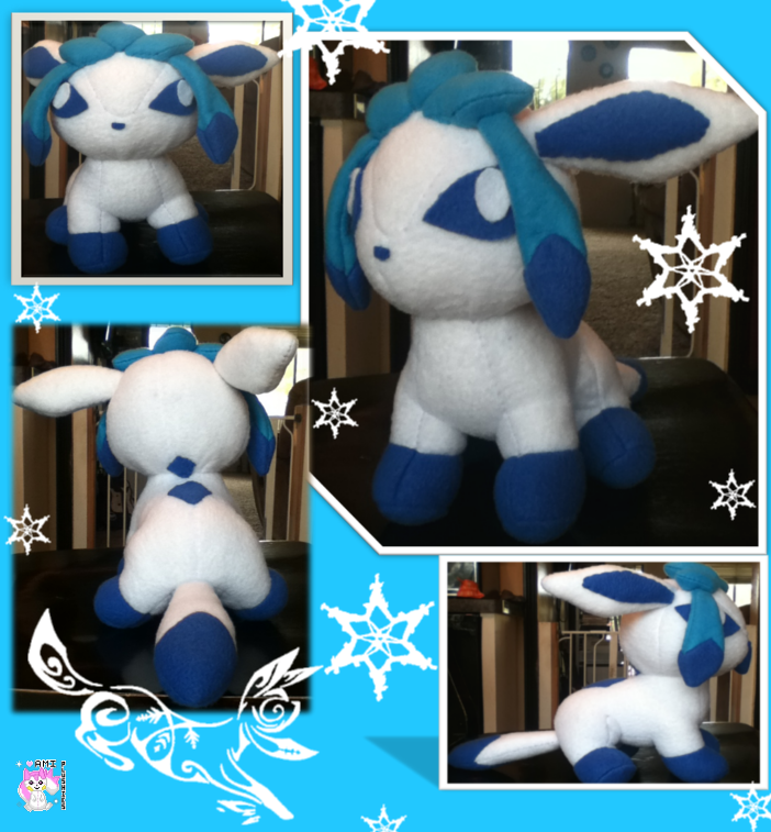 Chibi Shiny Glaceon by Ami-Plushies