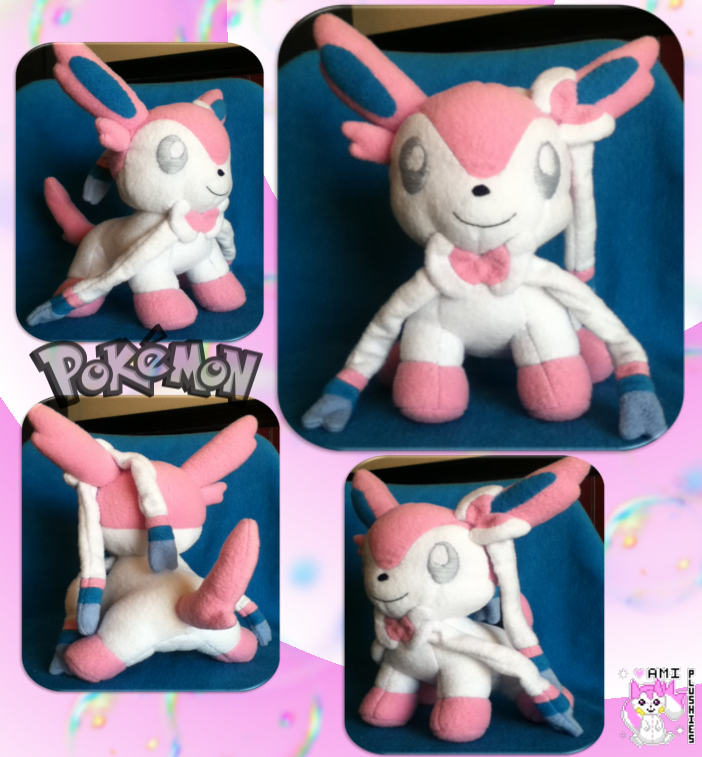Sylveon Plushie Version Two :Sold: by Ami-Plushies