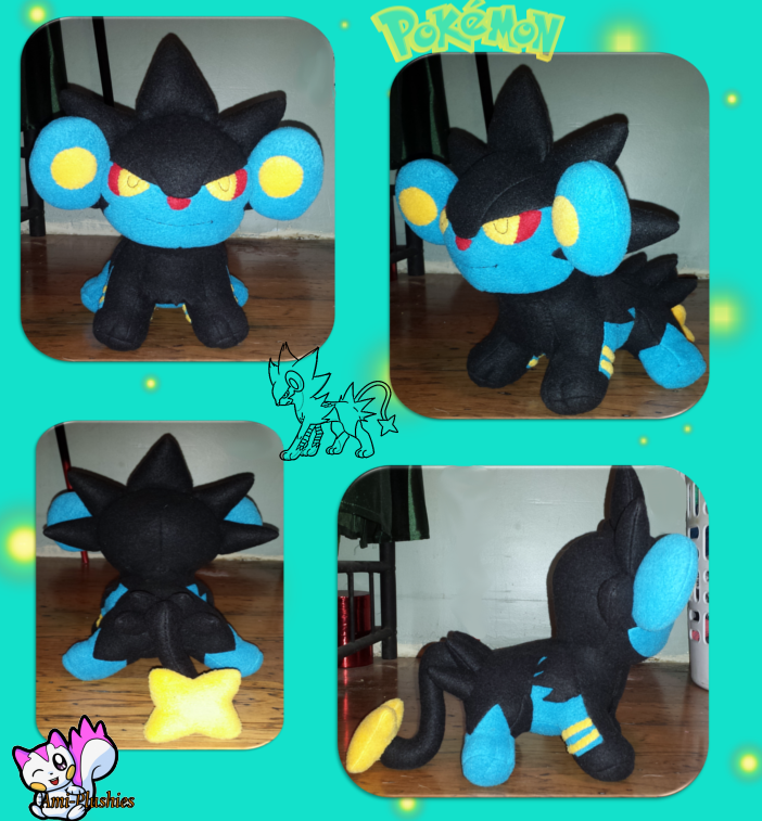 Luxray Plush :Sold: by Ami-Plushies