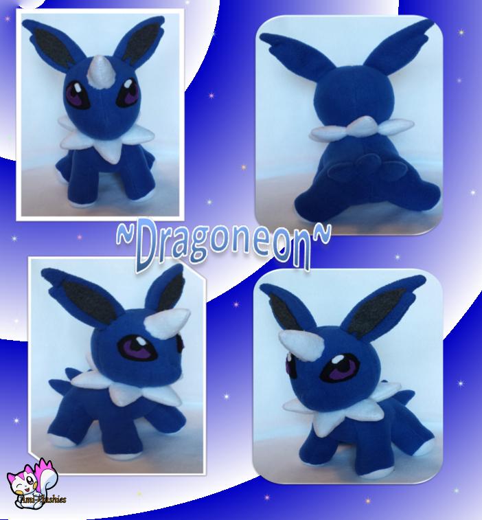 Dragoneon *Fakemon* Plushie :Sold: by Ami-Plushies