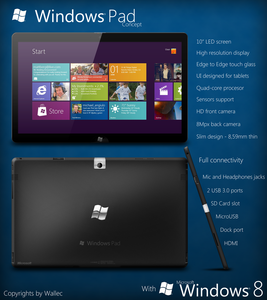 Windows Pad Concept by wwalczyszyn