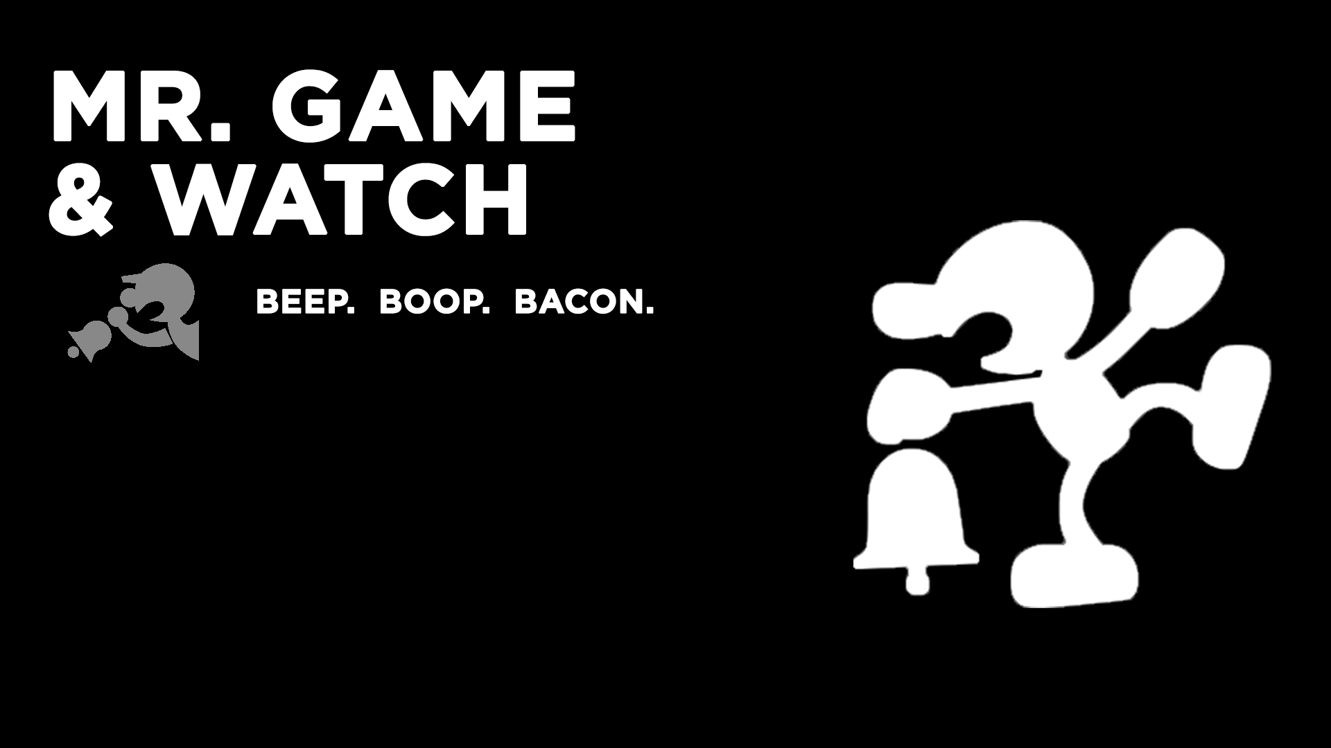 Mr Game And Watch Wallpaper By Itsnyteshadows On Deviantart