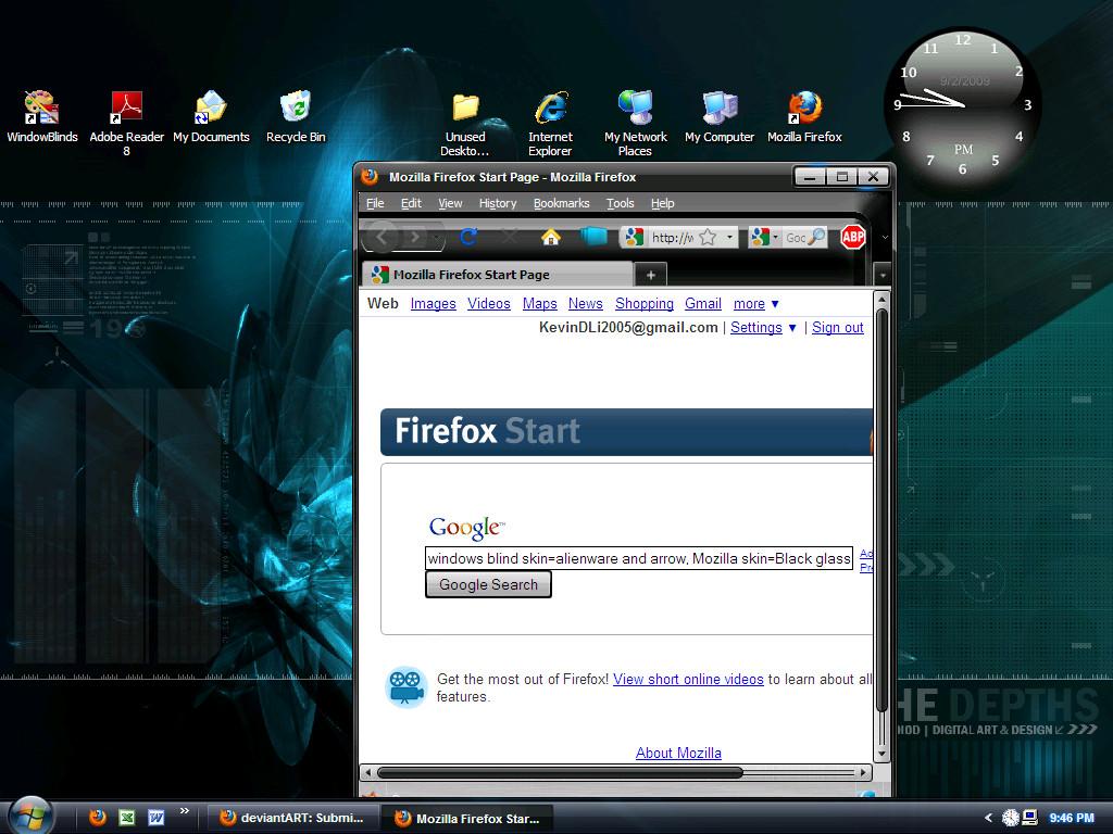 Windows blind + FF Skin black by KevoDevo