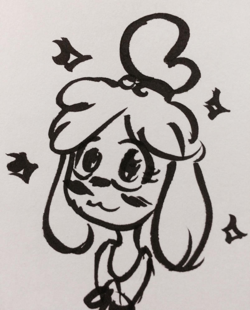 Isabelle - Ink Sketch by LizardLaw974