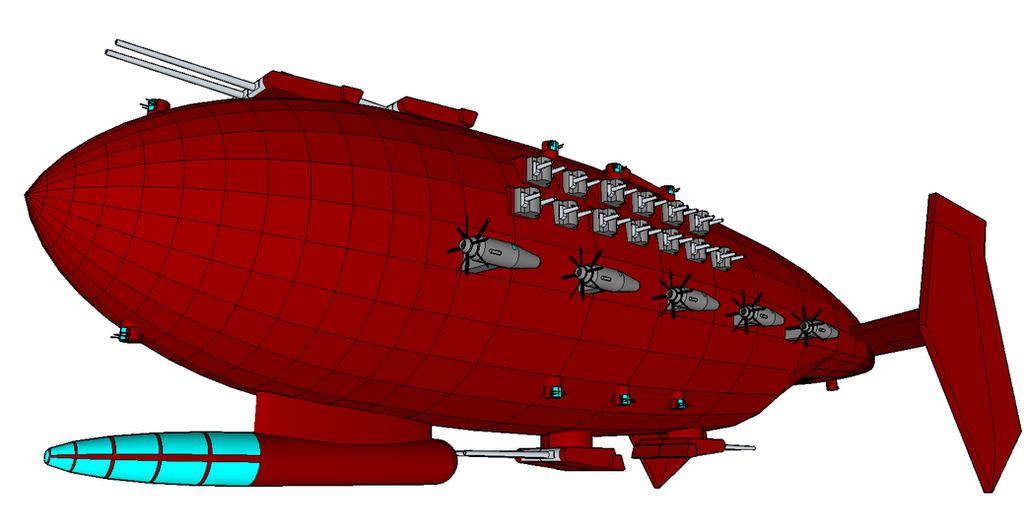 Wraith-class Battleship by killerweinerdog