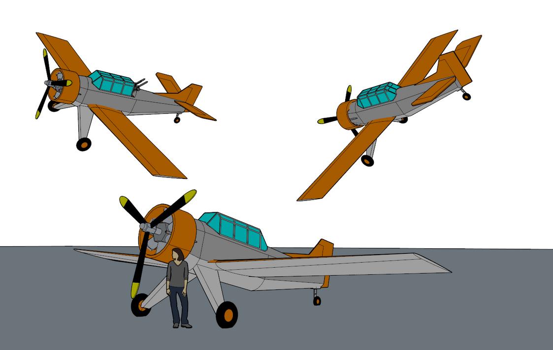 Extremi TB-56 Brigand Trainer/Patrol Plane by killerweinerdog