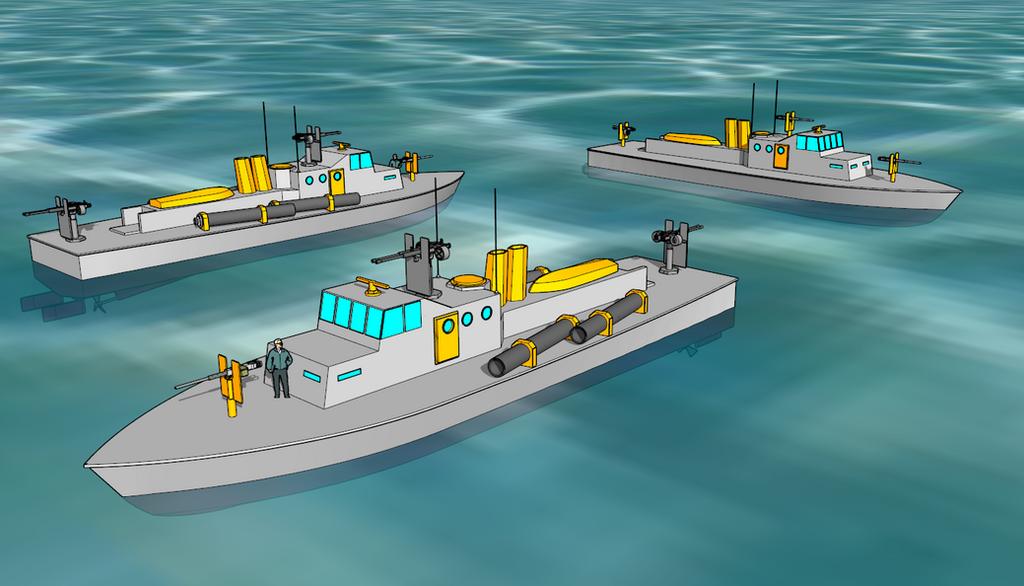 Extremi Cherub-class Patrol Boat by killerweinerdog