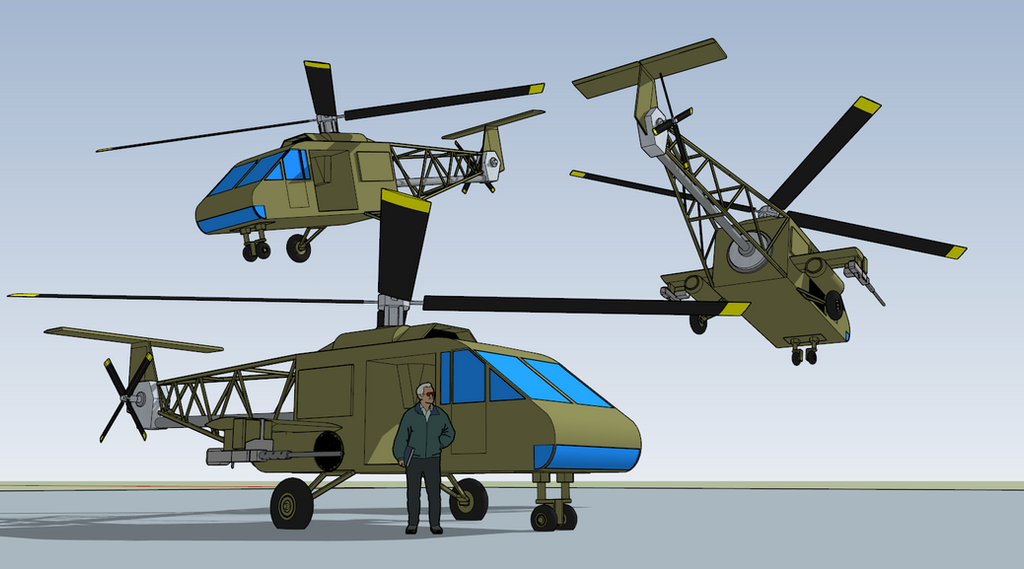 Extremi LH-15 Grasshopper Helicopter by killerweinerdog