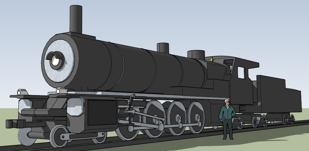 Extremi Chauncey-Class Steam Locomotive by killerweinerdog
