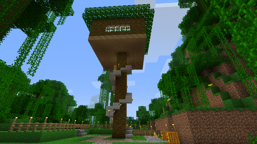 My MineCraft TreeHouse External View by TerryBlack on ...