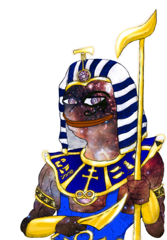 Kek, God of Memes! (No-Background Cosmic Edition)