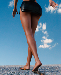 Giantess Strolling... by Helltrixx