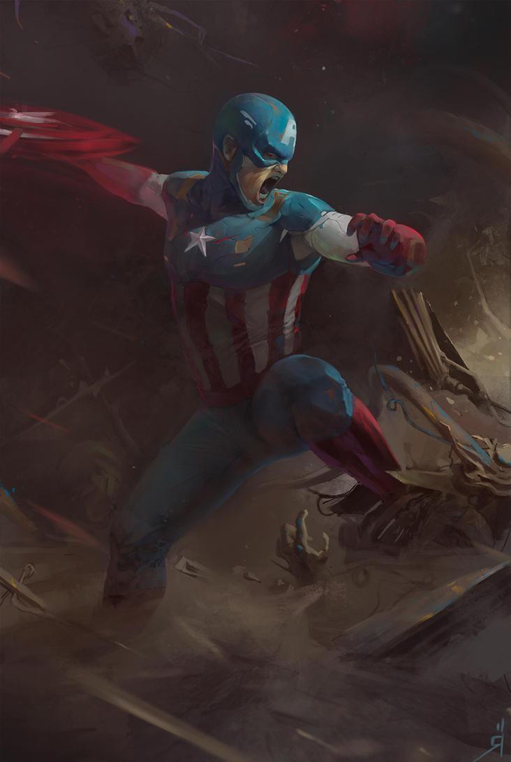 Captain America by OSCARROMER