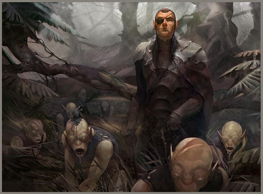 Bad Elf and Hound Orcs by OSCARROMER
