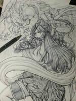 Fantasy OC Fuffu Mystical Warrior by ITSURYUU