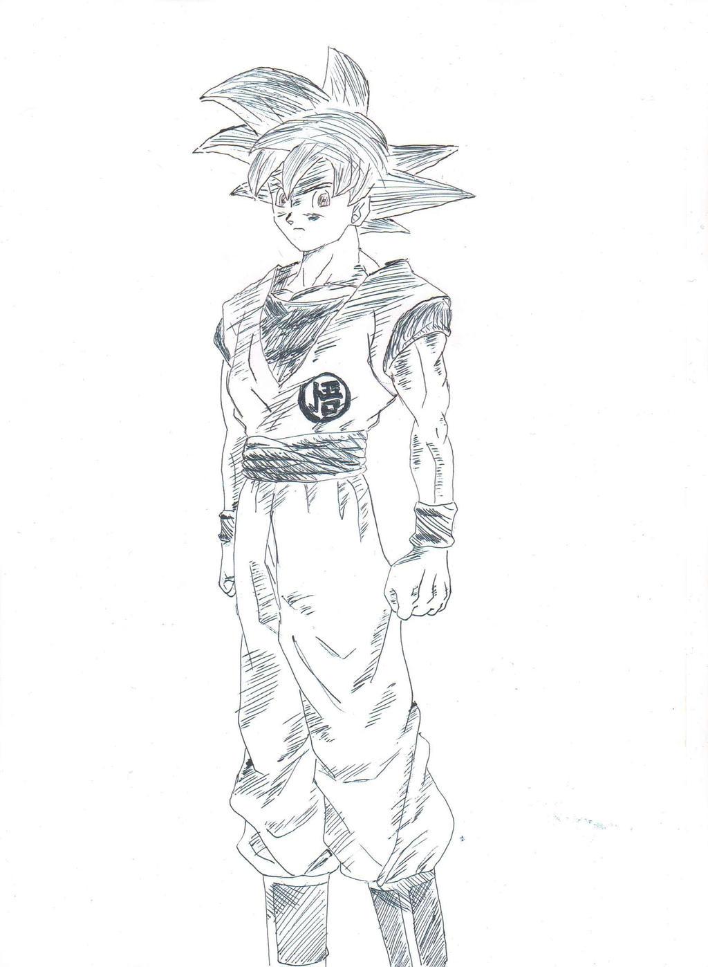 Goku Super Saiyan God by ozbushido on DeviantArt