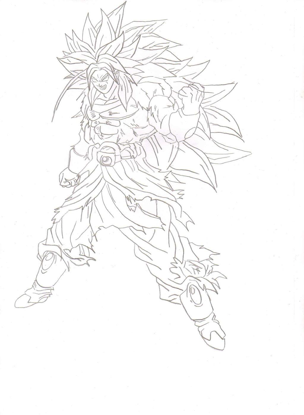 Super Saiyan 5 Broly By Ozbushido