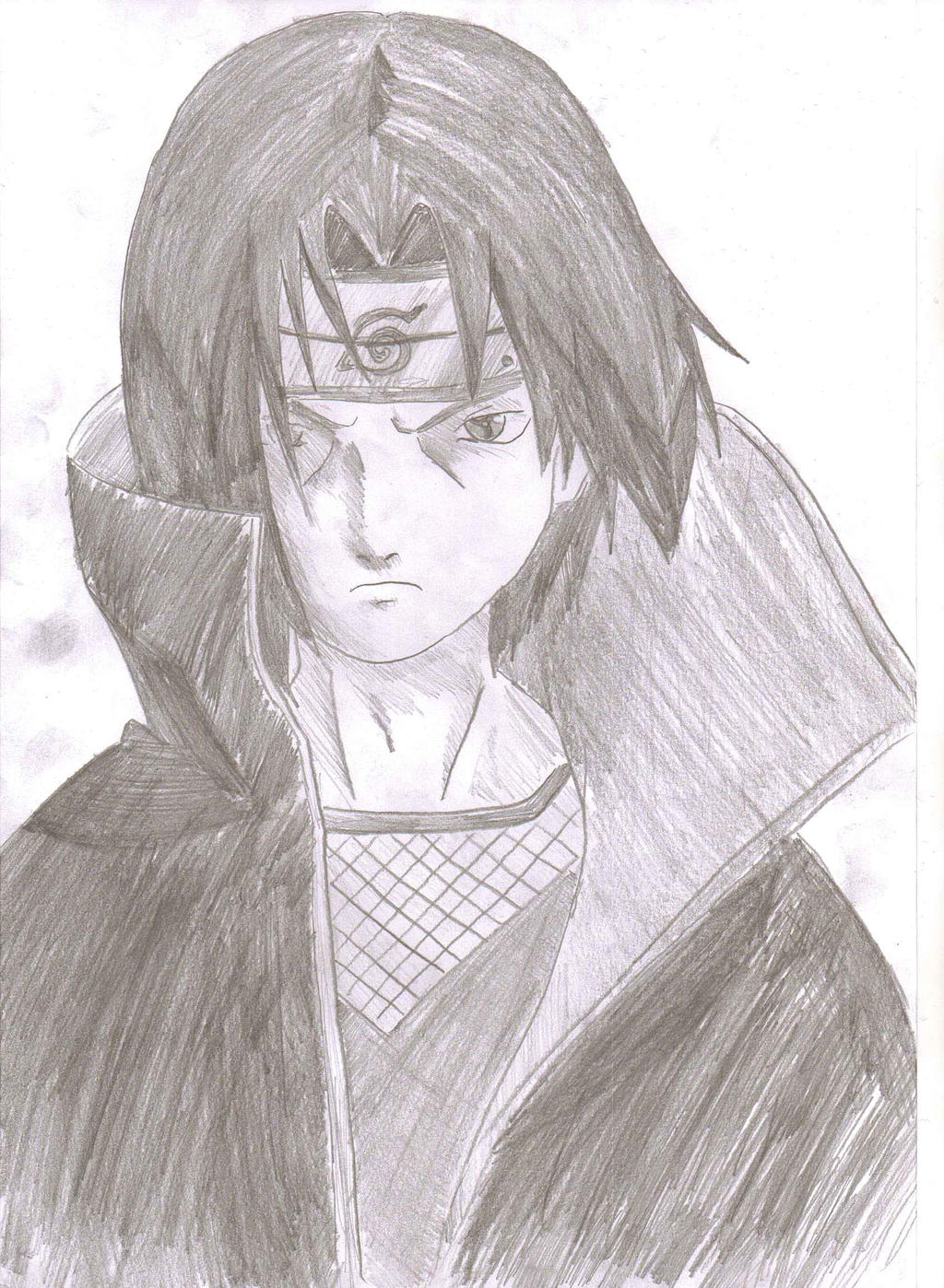 itachi uchiha tonal drawing by ozbushido